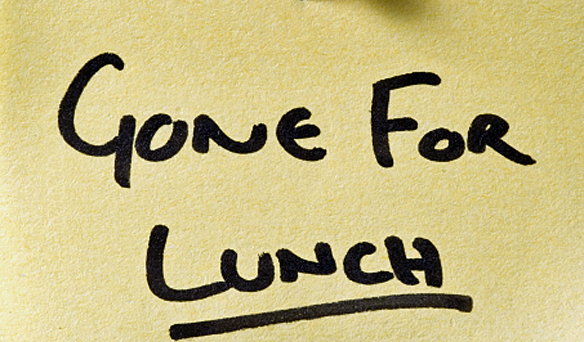 gone to lunch  cp istock